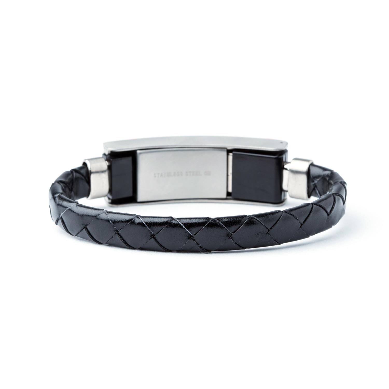 Leather Usb Bracelet Black