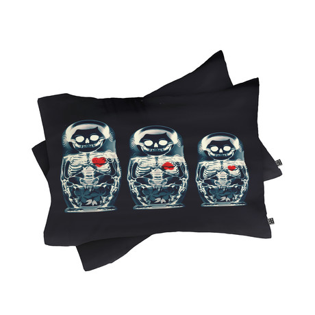Nesting Doll Pillow Case // Set of 2