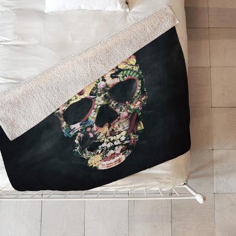 Vintage Skull Fleece Throw Blanket