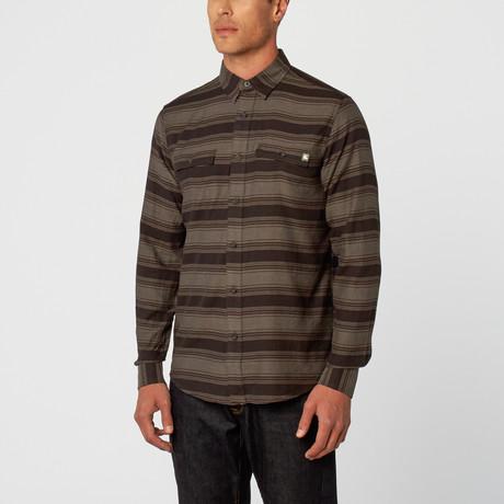 Nathan Plaid Long Sleeve Shirt // Brown