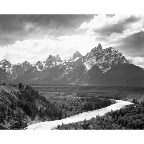 View from River Valley // Grand Teton National Park, Wyoming , 1941