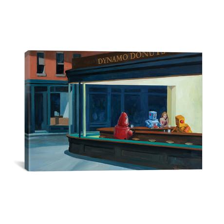 "Robo Hawks by Eric Joyner (26""W x 18""H x 0.75""D)"