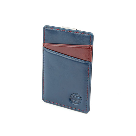 Boreal Ultra Slim Wallet // Blue + Red