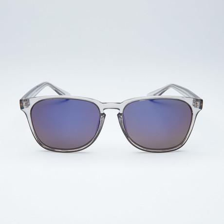 Polarized Wayfarer // Grey + Blue Mirror