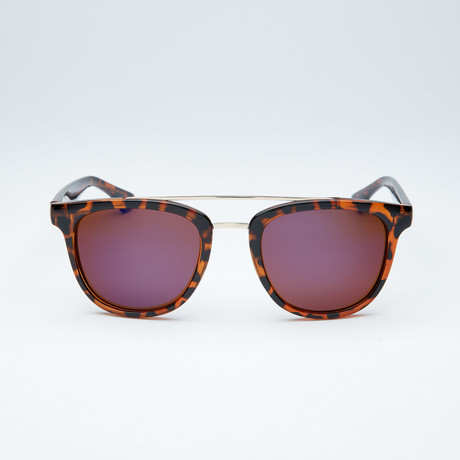 Polarized Modified Wayfarer // Tortoise + Blue Flash