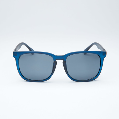 Polarized Modified Wayfarer // Navy + Light Flash