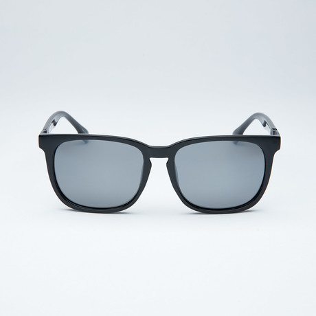 Polarized Modified Wayfarer // Black + Light Flash