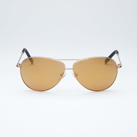 Polarized Aviator // Gold + Gold Mirror