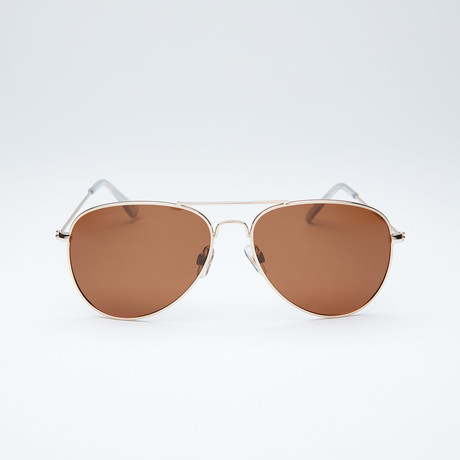 Polarized Aviator // Gold