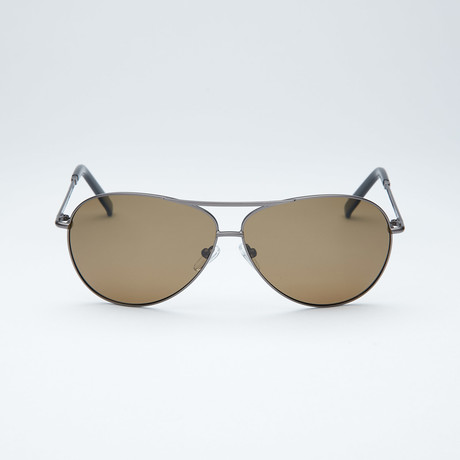 Polarized Aviator // Dark Gunmetal