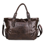 Pollick Distressed Tote // Chocolate