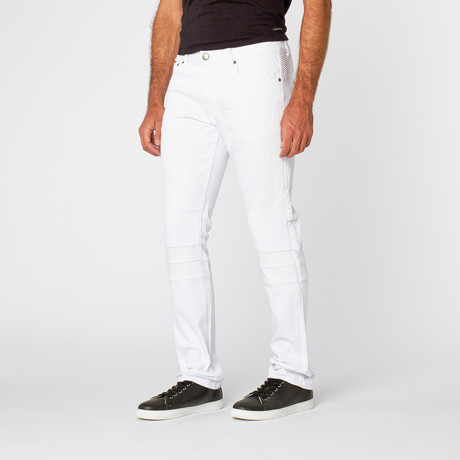 Classic Slim Fit Pant // White