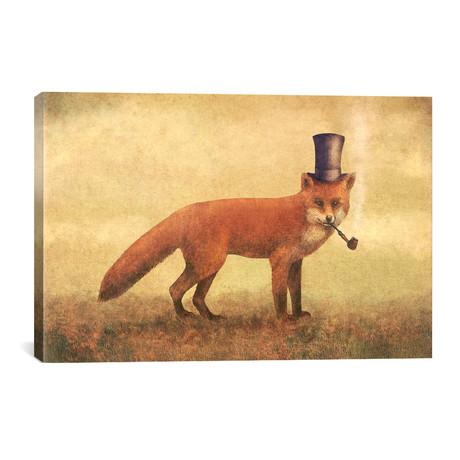 "Crazy Like A Fox // Terry Fan (40""W x 26""H x 1.5""D)"