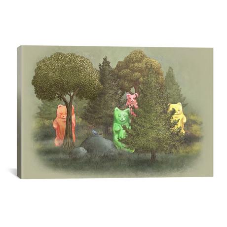 """Wild Jelly Bears // Terry Fan (40""""W x 26""""H x 1.5""""D)"""
