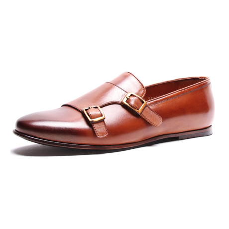 Double Monkstrap Loafer // Tobacco