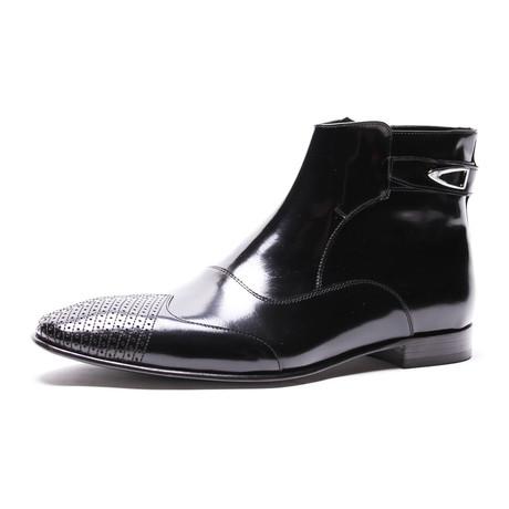 Textured Dress Boot // Black