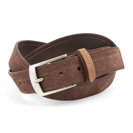 Aprilia Top Stitch Belt // Dark Brown