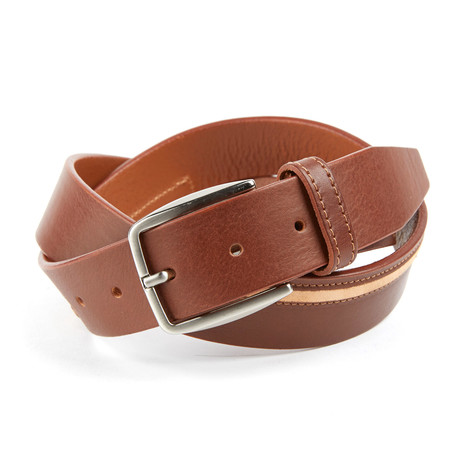 Osbert Smooth Leather Belt // Brown