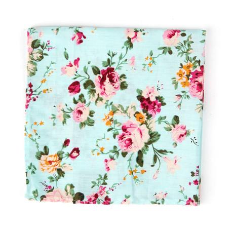 Le Fleuriste Pocket Square // Blue + Floral