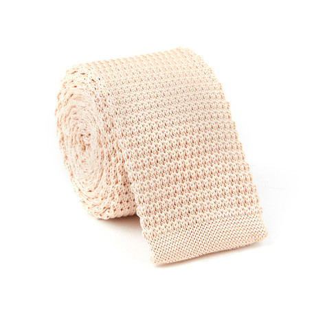 Knit Tie // Peach