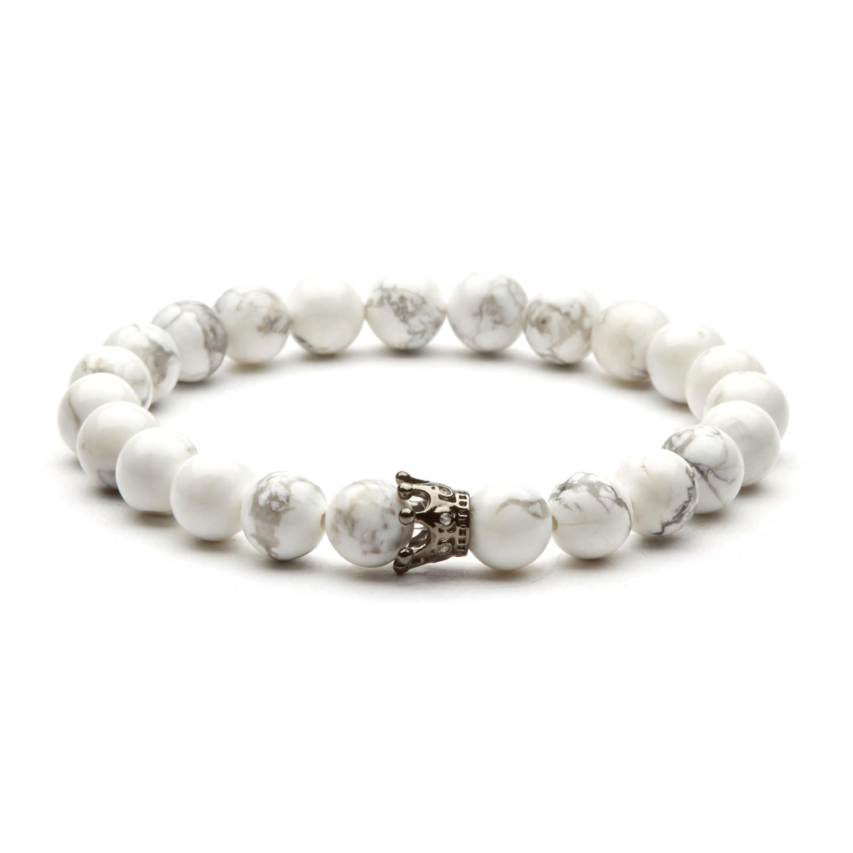 Crown Charm Bracelet: Crown Charm Bracelet // Silver + Snow White