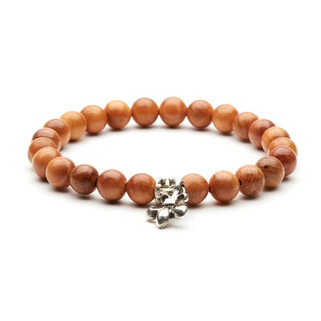 Scorpion Charm Bracelet // Silver + Wooden