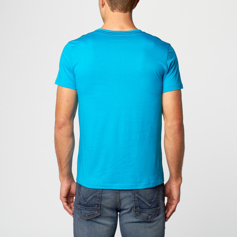 San francisco 1982 v neck t shirt turquoise s for Bespoke shirts san francisco