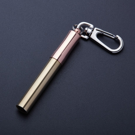 Brass and Copper Key Ring Toothpick Case