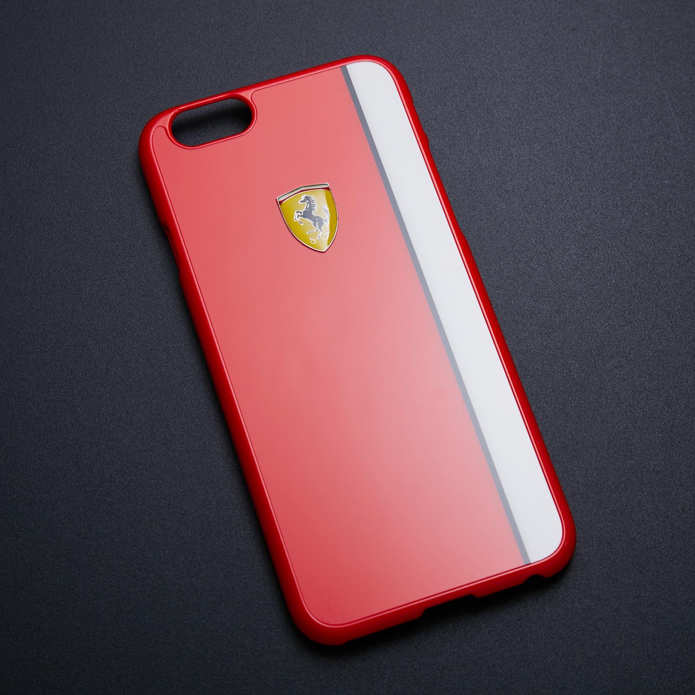 c6b1b0e552dea5 Scuderia Ferrari Hard Case    Red + White Racing Stripe (iPhone 6 6S ...
