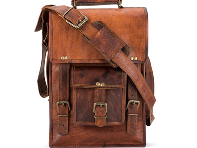 Satch & Fable Handmade Leather Bags North South Briefcase (10