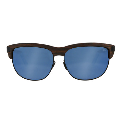 f170aff523544 Trevo Black + Blue    Wengue Wood
