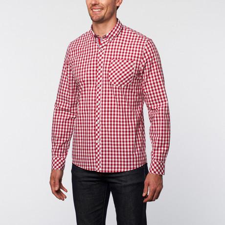 UG Purple // Long Sleeve Button Up // Red