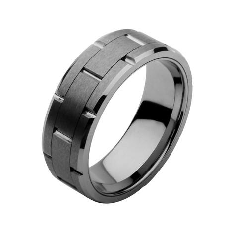 Stainless Steel + Tungsten Carbide Ring
