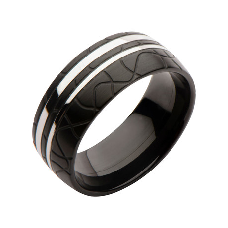 Stainless Steel Patterned Ring