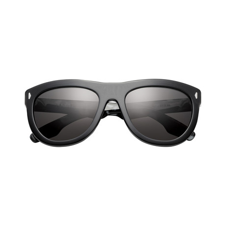 Women's Jagger Sunglasses // Polished Black + Marble Stone-Gray