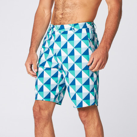 Square Up Board Short // Turquoise