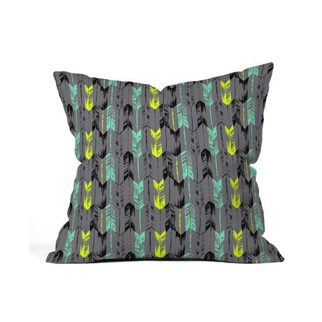 Arrow Line Spearmint Throw Pillow
