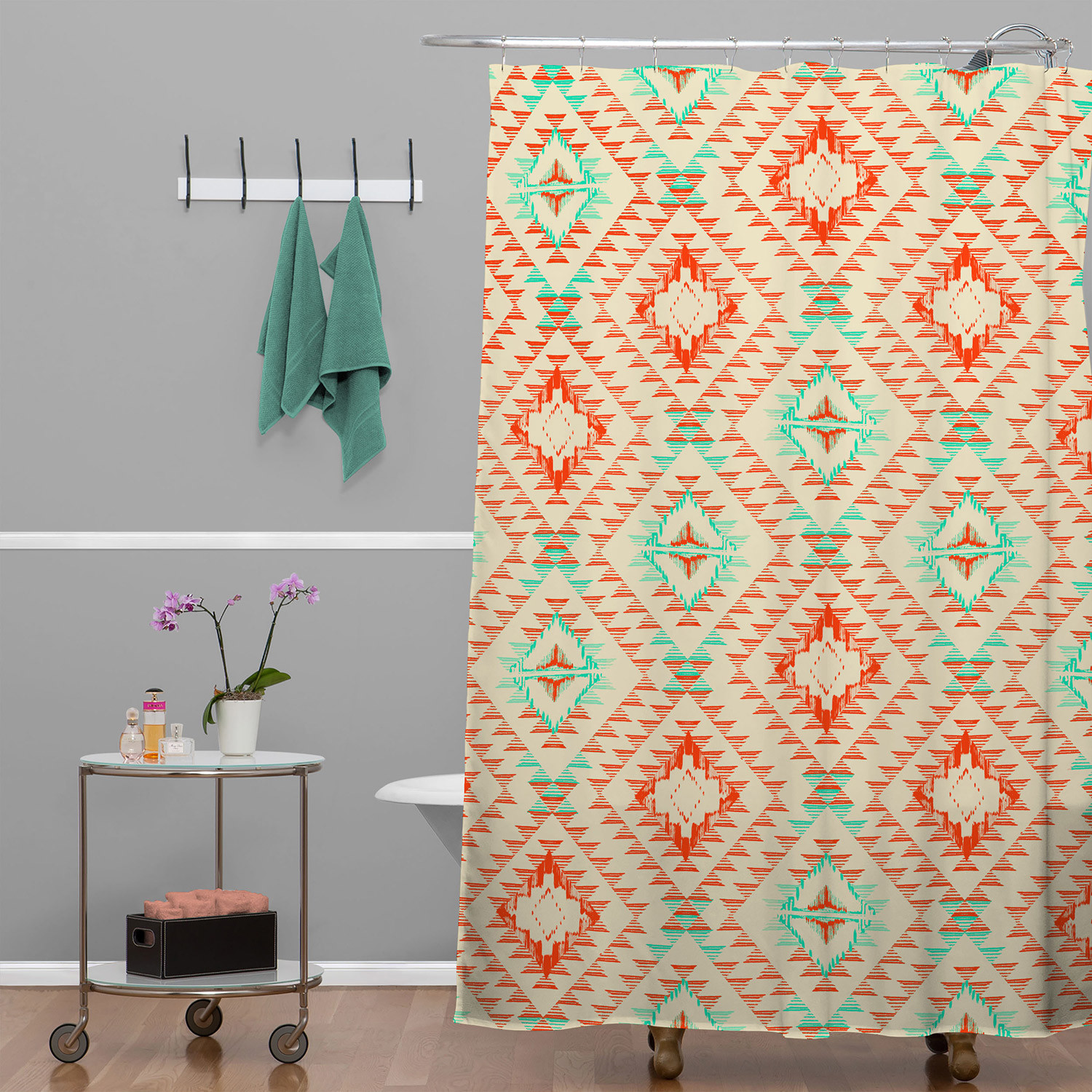 Tile Tribe Southwest Shower Curtain