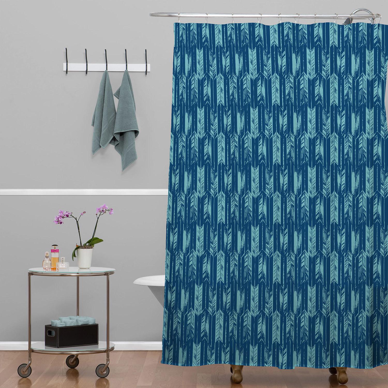 Arrow Indigo Shower Curtain