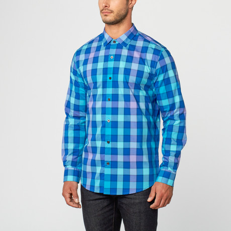 Lords Of Harlech // Casual Button-Up // Navy Plaid (S)