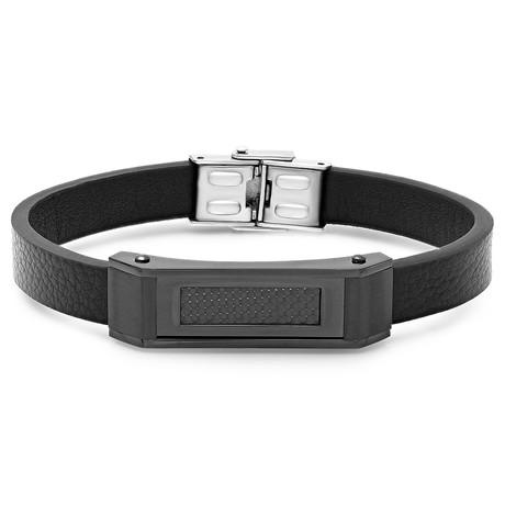 Carbon Fiber Bar Bracelet // Black