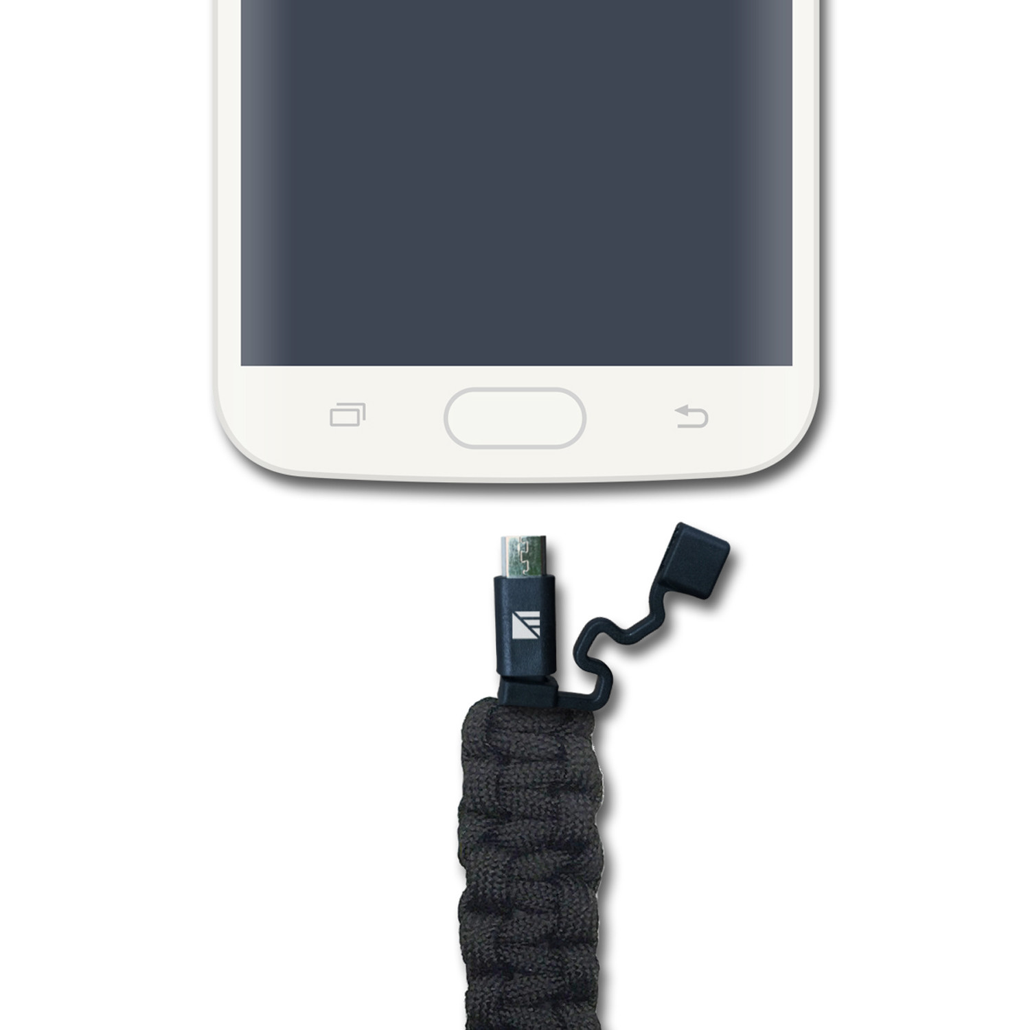 Paracord Charging Cable Black Micro Usb Dark Energy