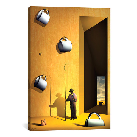 "O Colecionador de Xícaras (The Collector's Cups) // Marcel Caram (26""W x 40""H x 1.5""D)"
