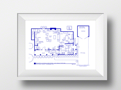 "Photo of Fantasy Floorplansâ""¢ Blueprints of Fictional Spaces Andy + Opie Taylor's Mayberry Home // Artist Signed by Touch Of Modern"