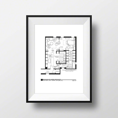 Carrie Bradshaw Apartment // Artist Signed