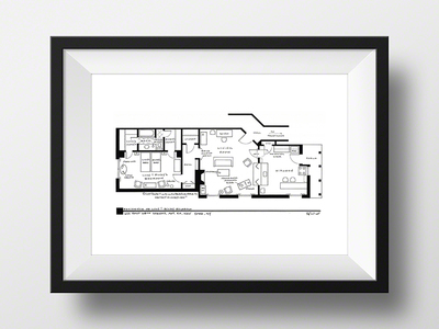 "Photo of Fantasy Floorplansâ""¢ Blueprints of Fictional Spaces Lucy + Ricky Ricardo 1st NYC Apartment // Artist Signed (Black) by Touch Of Modern"