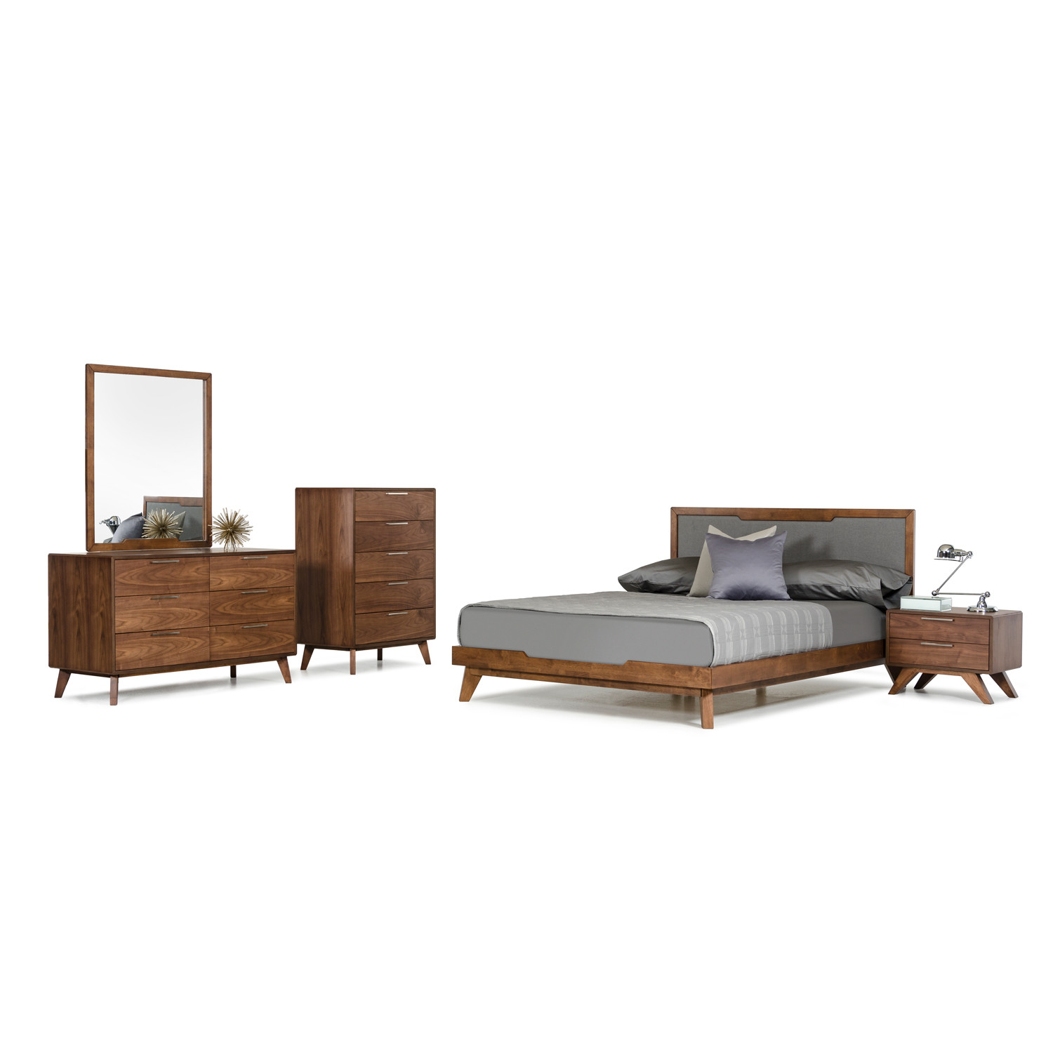 Nova Domus Soria Modern Grey Walnut Bedroom Set (Eastern King)