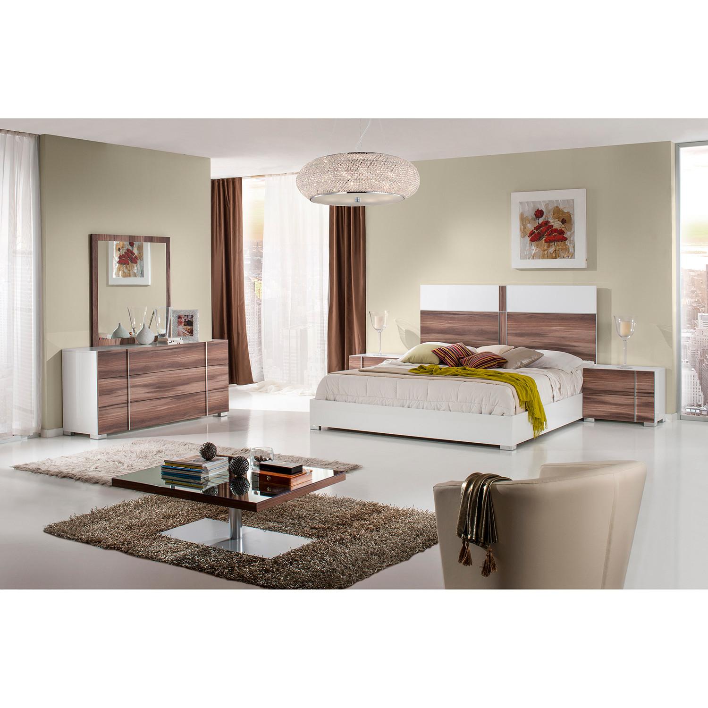 Nova Domus Giovanna Italian Modern White Cherry Bedroom Set (Queen ...