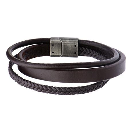 Braided Layered Bracelet (Black)