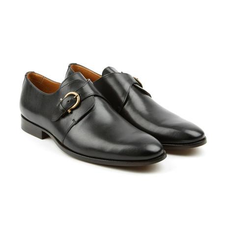 Quads Single Monk Strap Dress Shoes // Black (US: 7)